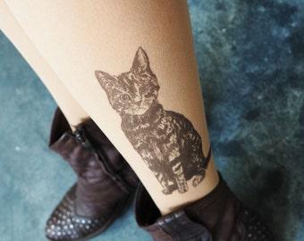 Cat socks, hand painted