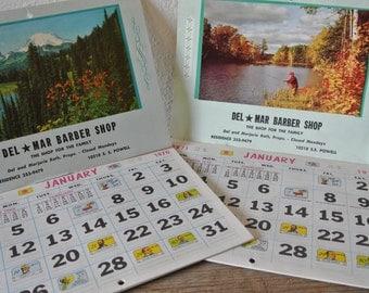 Vintage 1970 and 1971 Calendars, Retro Advertising Calendars, Wall Calendars, 2 Collectible Calendars.