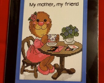 SUZY'S ZOO Cross Stitch Kit ~ My Mother My Friend Janlynn NEW Sealed Mother's Day Gift