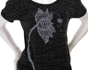 Lotus Flower| Soft Lightweight T Shirt| Relax fit| Art by MATLEY| slouchy tee| Gift for her| Yoga| Zen| Summer tee| Weekender.