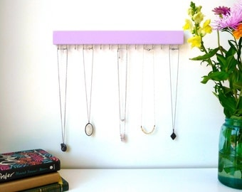 Modern Jewelry Organizer - Jewelry Holder - Necklace Holder - Earring Holder - Wood Necklace Hanger - Necklace Storage - Modern - Minimalist