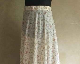 Vintage 70's Floral Cotton Prairie Skirt