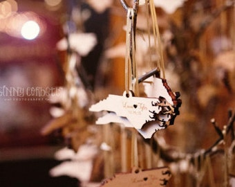 Wedding Favors- Custom Wood Ornaments
