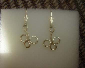 Fine earrings in gold 585 (14 K)! Heyday!