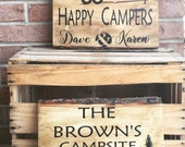 Campsite Sign / Welcome To Our Campsite Sign / Wood Campsite Sign