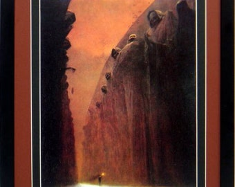Framed Beksinski Art Poster Valley of Death 14x20