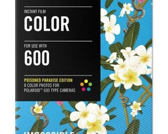 Impossible Project Film for Polaroid 600 camera, NEW, Poisoned Paradise Edition