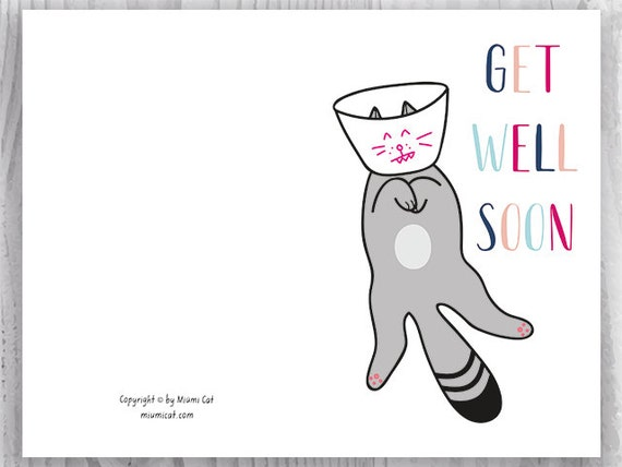 Get Well Cards Funny Cat Get Well Printable Cards Get Well