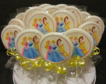 Princess Sticker Chocolate Lollipop