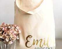 Custom tote bags-Tote bag- Personalized tote bag- Name and title tote bag- Bridesmaid gifts