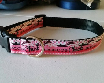 Broncos Chick Collar Or Leash