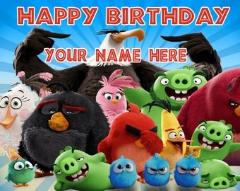 Birthday banner Personalized 4ft x 2 ft Angry Birds