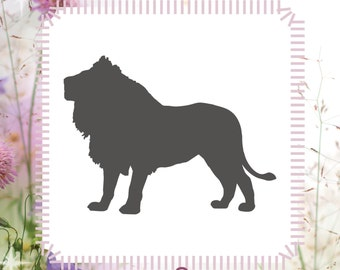 Lion Animal Stencil Reusable Craft Stencil