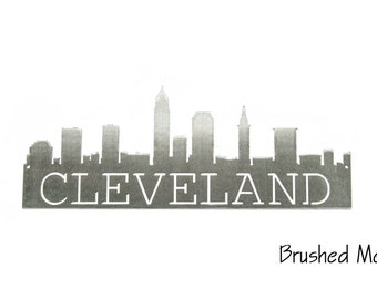 Cleveland Skyline metal art