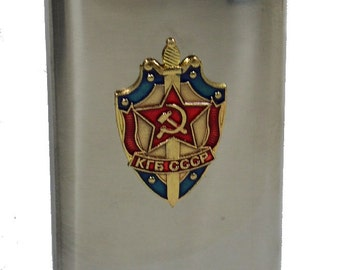 6 oz. Stainless Steel Flask with Troops Insignia