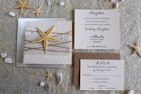 When To Send Out Wedding Invitations For Destination Wedding: Beach Wedding Invitation Destination Wedding Invitation