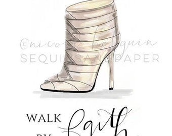 Walk By Faith Fashion Print