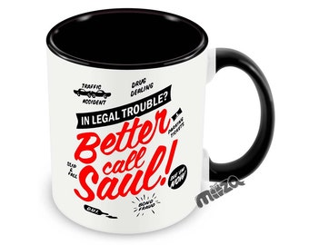 Better Call Saul Mug Saul Goodman 11oz Coffee Cup Funny Gift For Lawyer Law School Grad