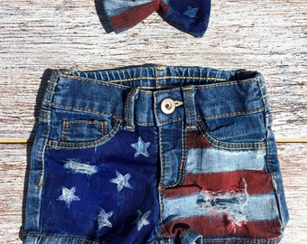 American flag shorts | Etsy
