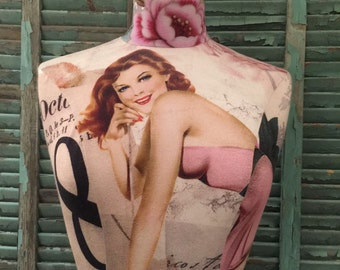 VINTAGE Style Fabric Covered MANNEQUIN