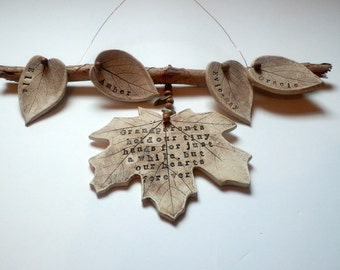 Personalised Grandparents/ Mothers/ Fathers family tree - Mothers Day gift