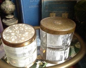 2 Antique Dressor Jars
