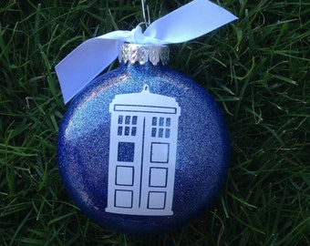 Tardis, Dr Who, Inspired Ornament