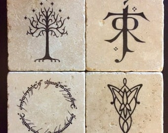Lord of the Rings Coasters - Set of 4