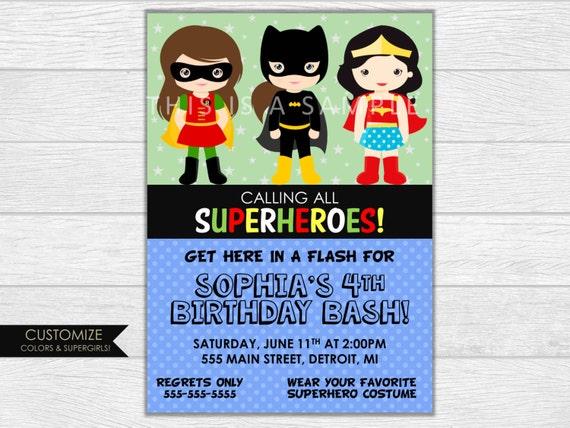 Superhero invitation, superhero birthday, superhero invite, birthday invitation, birthday invite, printable invitation, digital download