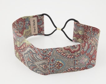 Paisley print elastic fashion headband