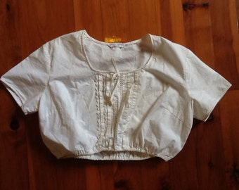 VINTAGE hippy prairie 70's top
