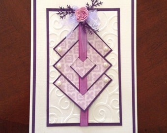 Multi Layered Embossed Any Occasion Greeting Card