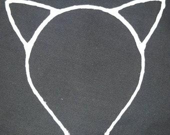 White cat ears head band - Ariana Grande - Halloween costume - cat costume
