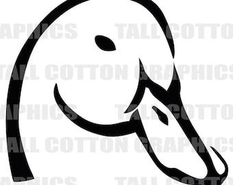 Great Ducks Unlimited Alternative Duck Head Vinyl Decal Sticker Decor Wl032