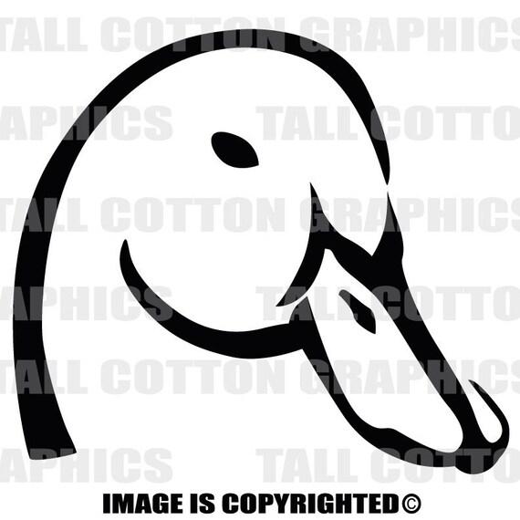 Ducks Unlimited Home Decor: GREAT DUCKS UNLIMITED Alternative Duck Head Vinyl Decal