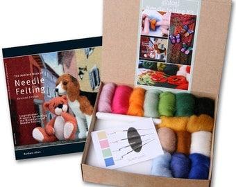 """Needle Felting Starter Kit, including book """"Needle Felting"""""""