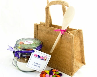 Jute Gift Bag & Wooden Spoon
