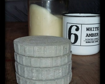 Raw Industrial Chunky Concrete Coasters (Set of 4)