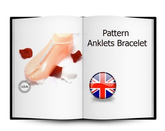 Pattern, Anklets bride, Beading instruction tutorial, reversible bracelet bride