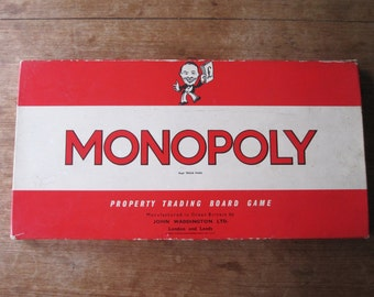 1960's Monopoly Board Game