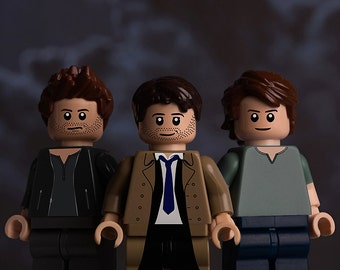 Supernatural themed A5 print featuring LEGO minifigs