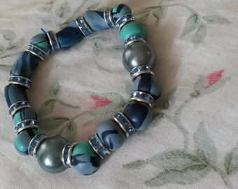 Blue Hand crafted Beaded Bracelet