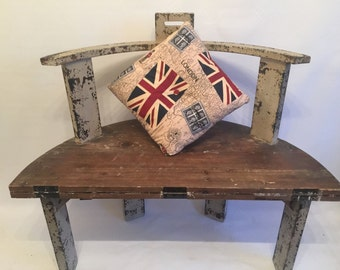 Shabby Chic Chair Table - Unusual Design includes the Union Jack Cushion