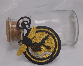 Handmade Steampunk Bee Pocket Watch Tag / Topper