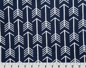 Premier Archer Arrow Cuddle in Navy, and Snow from Shannon Fabric