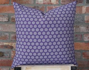 African Pillow Cover - Scatter Pillow - Decorative Pillow - African Cushion - Throw Pillow - African Design - 20 x 20 - Shweshwe Pillow