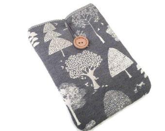 iPad Pro  9.7 Sleeve case / iPad Air 2 case / Fabric iPad Air pouch / Padded ipad Case, iPad bag, cover iPad gray trees