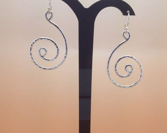 Sterling Silver Spiral Earrings Hallmarked