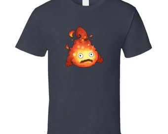 Howl's Moving Castle - Calcifer - Grey T-shirt Studio Ghibli