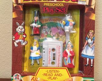 Alice In Wonderland Storybook Preschool Play Set